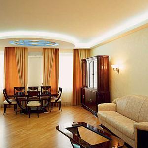 евро ремонт гостиной комнаты