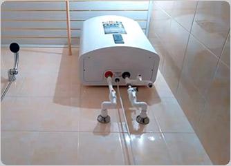 фото установка бойлера в ванной комнате
